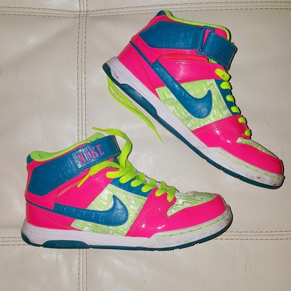 neon nike high tops
