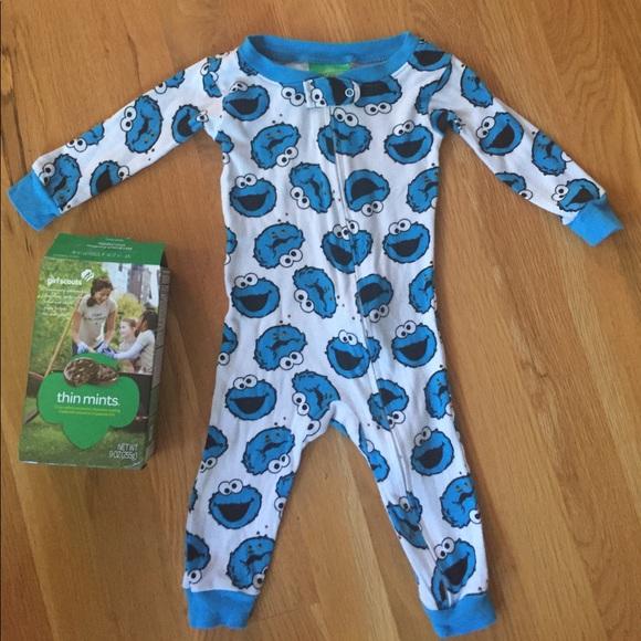 Sesame Street Pajamas Onesie Zip Closure 12 Mo Poshmark