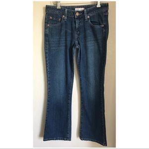 Levi's 518 Superlow Bootcut Stretch Blue Jeans