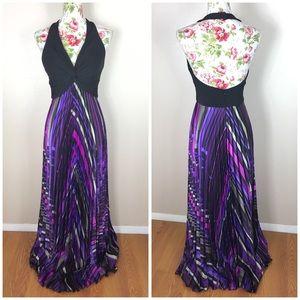 Betsy & Adam Dresses & Skirts - Betsy and adam black purple Maxi semi formal dress