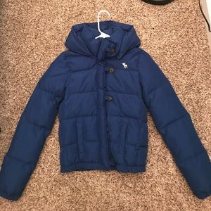 e1ff83d0406 ... Abercrombie Blue Girls Puffer Winter Coat Size XL ...