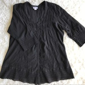 Soft Surroundings Tops - Soft Surroundings Crocheted and Embroidered Tunic