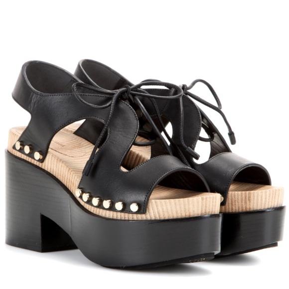 Leather Platform Sandals Sz
