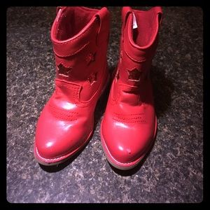 Gymboree Other - Gymboree Red Glittery Star Boots Size 6