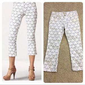 CAbi Denim - CAbi Style #761 Nautical Rope Print Cropped Jeans