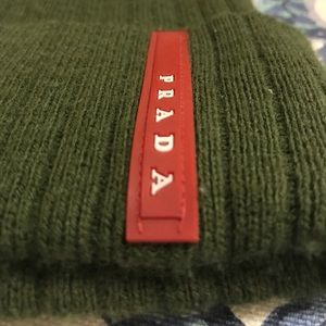 80a1324687a Prada Accessories - Forrest Army Green Prada Winter Knit Hat Beanie