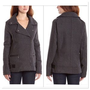Asymmetrical Zip Front Coat