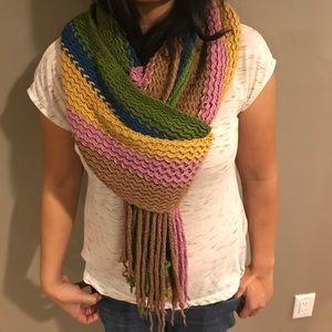 Adolfo Dominguez Accessories - Warm Multi-color Adolfo Dominguez Knit Scarf