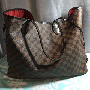 Louis Vuitton Handbags - AUTHENTIC LOUIS VUITTON NEVERFULL DAMIER EBENE GM