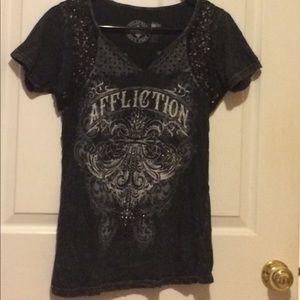 Affliction Tops - Affliction Sequin T shirt