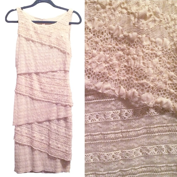 Bailey 44 Tiered Column Lace Dress Anthropologie