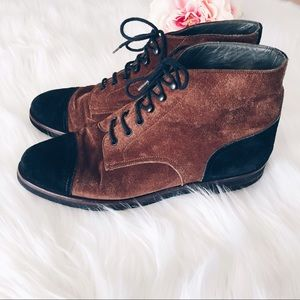 Bally Shoes - Bally Suisse Suede Leather Lace Up Ankle Boots 6.5