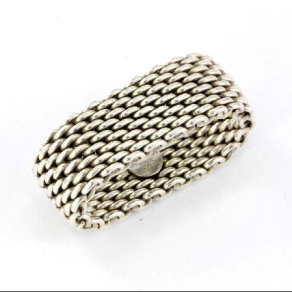 Tiffany Hard Mesh Ring Men