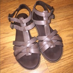 Timberland Taupe Leather Sandals - 6.5