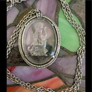 Avon Jewelry - Greek Goddess Etched Glass Cameo