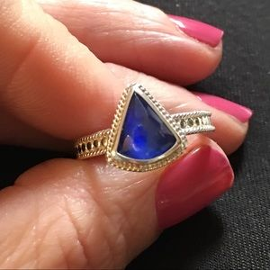 Anna Beck Jewelry - Anna Beck Lapis and .925 sterling silver ring FIRM