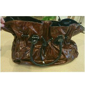 Genuine Charming Charlies Shiny Red Patent Bag NWT