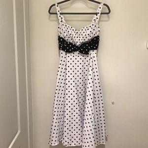 Stop Staring Dresses & Skirts - Stop staring polka dot swing dress