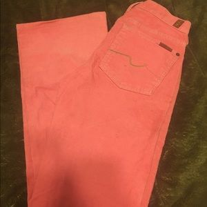 7 For All Mankind Denim - 7 for all mankind corduroy pink