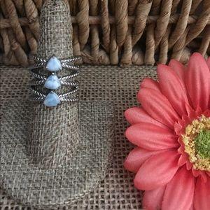 Jewelry - Larimar Three stone Ring