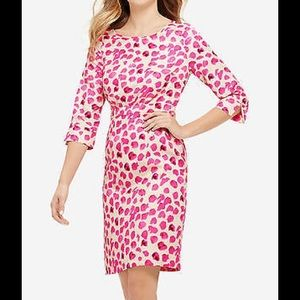 NWT The Limited Silky Pink Petal Floral Dress