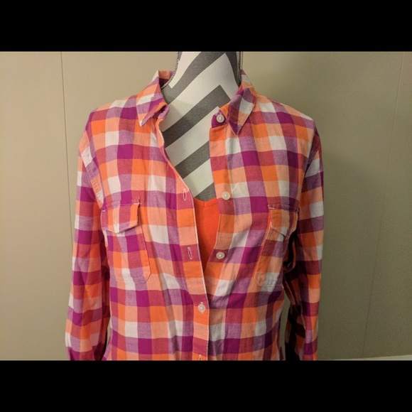 67 off old navy tops old navy soft flannel plaid shirt for Places to buy flannel shirts