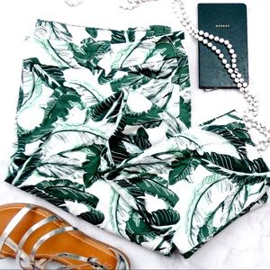 Old Navy Tropical Palm Print Pixie Pants