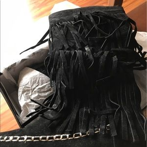 11thstreet Shoes - Size 7 black fringe boots new never on.