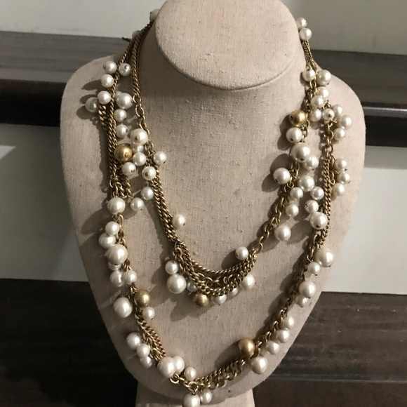 Stella & Dot - Stella & Dot gold pearl long necklace from ...