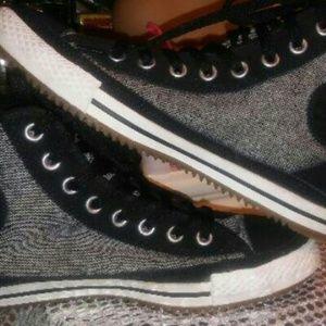 """CONVERSE Shoes - * """"Elise"""" Faux Fur Converse Hightops*"""