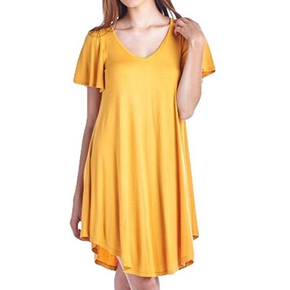 Mustard tshirt dress NWT 3ba0d0225cde