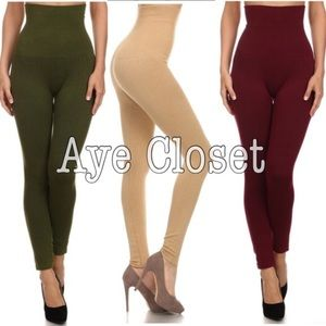 Pants - High waisted compression leggings tummy control