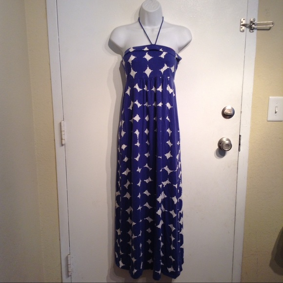 83 off boden dresses skirts boden blue white diamond geometric maxi dress from crystal 39 s. Black Bedroom Furniture Sets. Home Design Ideas