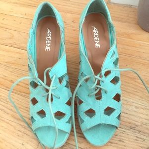 Ardene Shoes - Tiffany / Teal Wedges