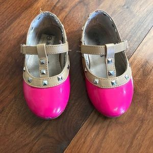 """Jelly Beans Other - Pink patent toddler """"rock studs"""""""