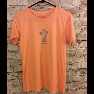 Life is Good Tops - Life is good szS 100% cotton short sleeve orange