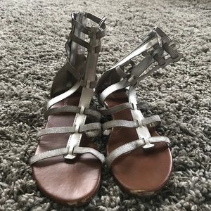5887ce22a492 Marshalls · Silver Gladiator Sandals