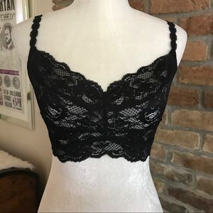 Cosabella Other - Cosabella Sweetie Black Lace Bralette size Large