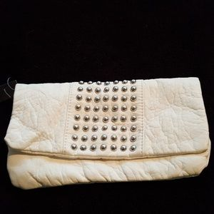 White Massimo White  Clutch with Studs