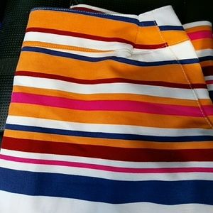 Stripped colorful skirt