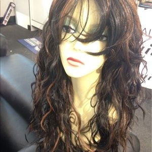 Accessories - Wig color 1B/30 long loose curls wave 20 inch
