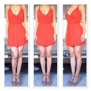 Boohoo Wrap Front Mini Dress
