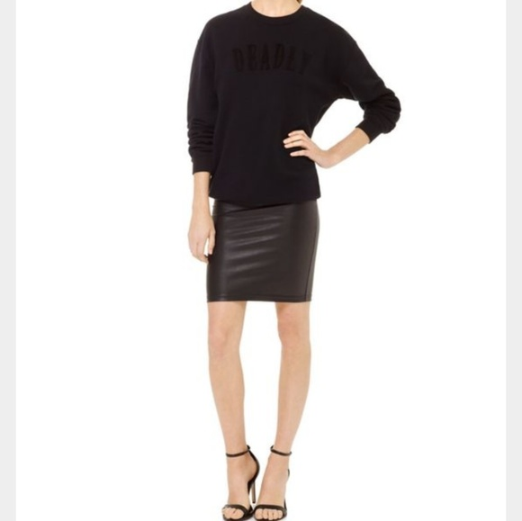 aritzia wilfred free edita faux leather skirt from