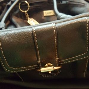 Luce Black Leather Purse. In Excellent Condition