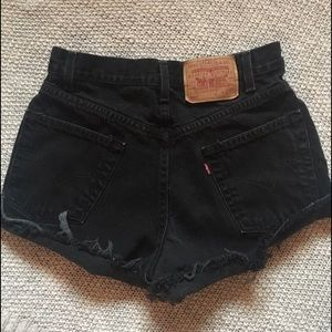 Urban Outfitters Pants - High Waisted Black Levi Shorts