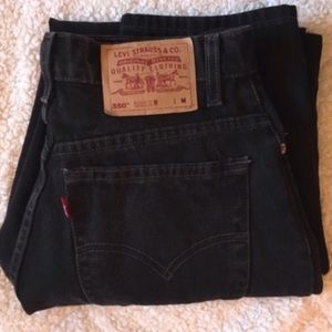 Urban Outfitters Denim - High Waisted Black Levi Jeans