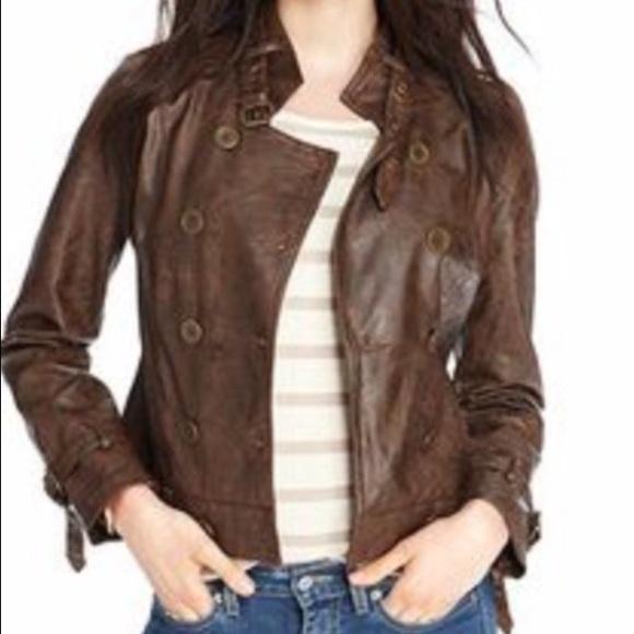 ec82f0952947 Maison Jules Jackets & Blazers - Maison Jules faux leather jacket in brown