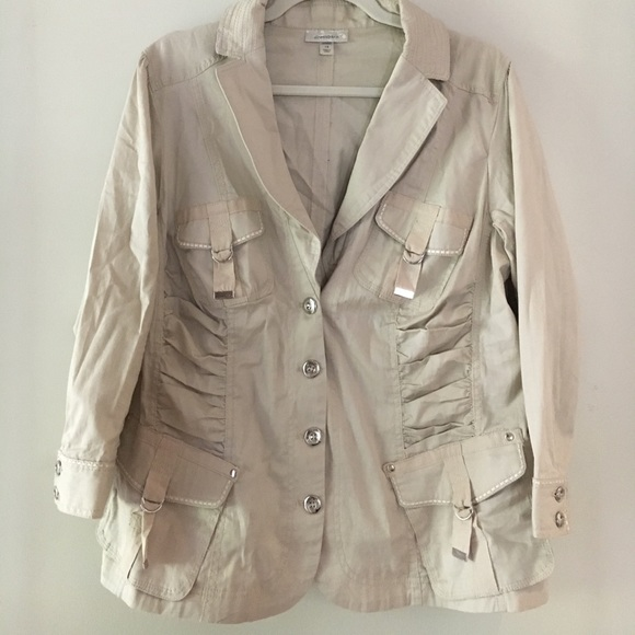 f4fdc4c2ad7c Dress Barn Jackets & Coats | Beige Cream Jacket | Poshmark
