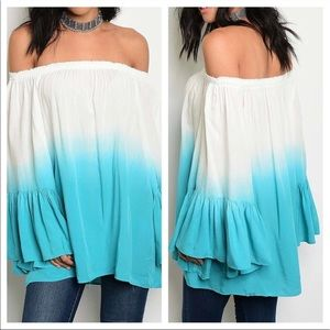 FLASH SALE love this off the shoulder blue