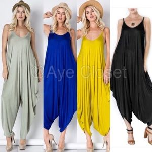Pants - Oversized Loose drape harem Romper jumpsuit dress